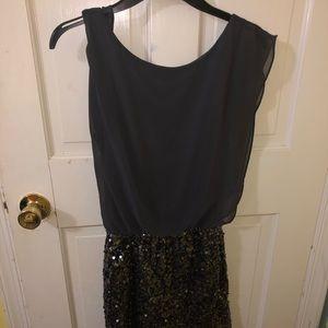Black/Grey sequined dress!!